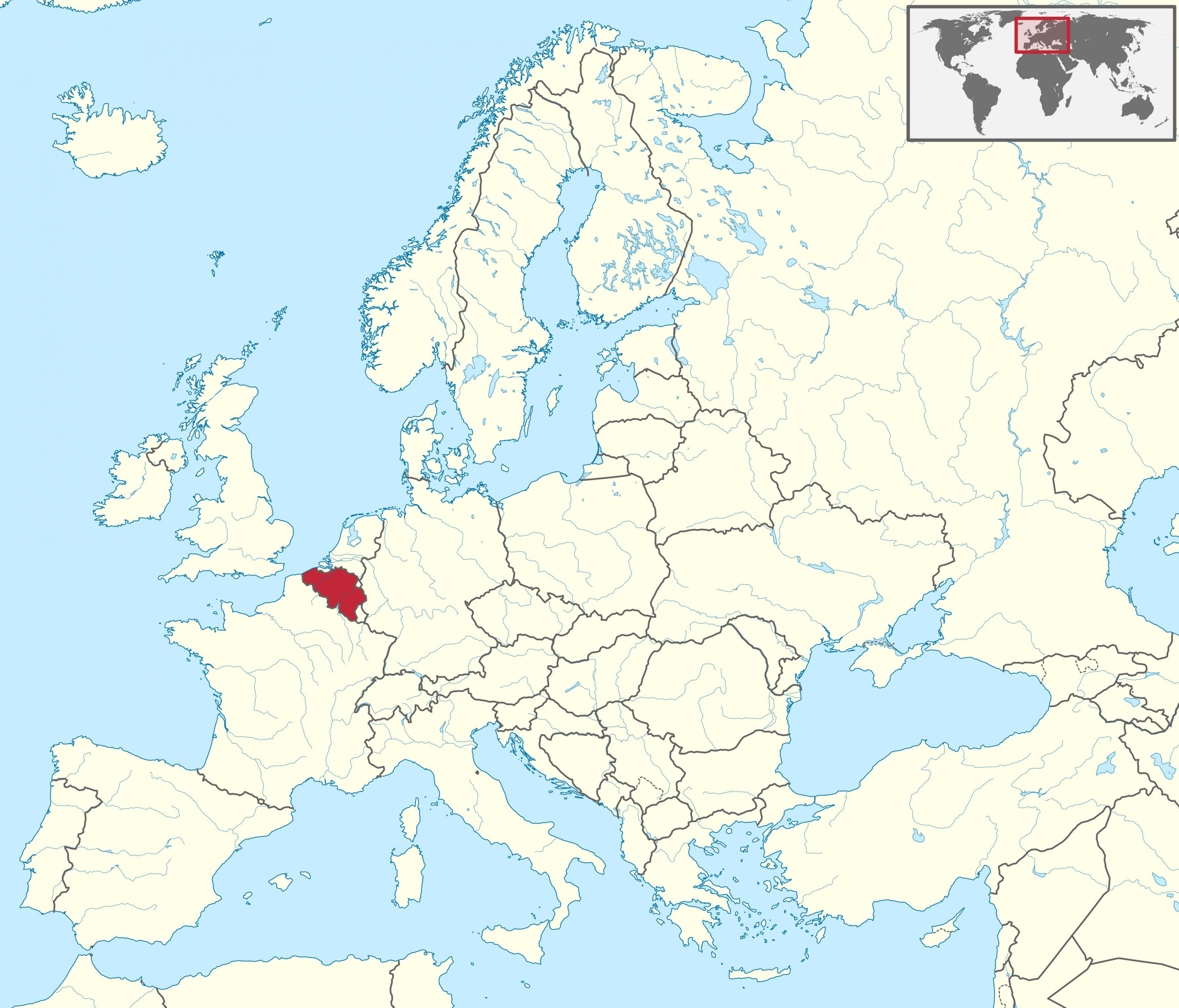 Cartina Fisica Belgio.Belgio Mappa Europa Mappa Del Belgio E D Europa Europa Occidentale Europa
