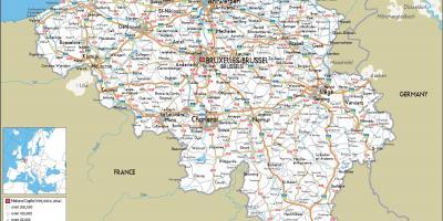 Cartina Fisica Belgio.Belgio Mappa Mappe Belgio Europa Occidentale Europa